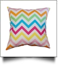 Throw Pillow Cover in Chevron Print - MULTI-COLOR