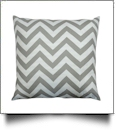 Throw Pillow Cover in Chevron Print - LIGHT GRAY - CLOSEOUT