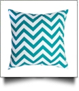 Throw Pillow Cover in Chevron Print - TEAL - CLOSEOUT