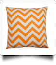 Throw Pillow Cover in Chevron Print - ORANGE - CLOSEOUT