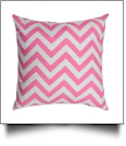 Throw Pillow Cover in Chevron Print - PINK - CLOSEOUT