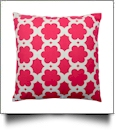 Throw Pillow Cover in Floral Pattern Print - HOT PINK - CLOSEOUT