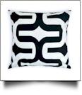 Throw Pillow Cover in Jumbo Geometric Print - BLACK - CLOSEOUT
