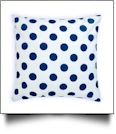 Throw Pillow Cover in Jumbo Dotty Print - NAVY - CLOSEOUT