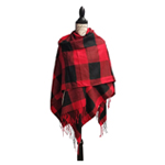 Buffalo Plaid Cape Shawl Wraps