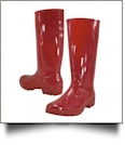 "13.5"" Women's Rain Boots - RED - CLOSEOUT"