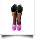 The Coral Palms™ Tall Plaid-Lined Duck Boots - PINK