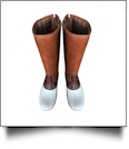The Coral Palms™ Tall Plaid-Lined Duck Boots - WHITE