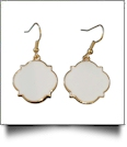 Gold-Tone Moroccan Earrings - WHITE
