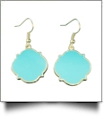 Gold-Tone Moroccan Earrings - AQUA