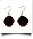 Gold-Tone Moroccan Earrings - BLACK