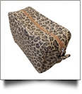 The Coral Palms™ Leopard Print Cosmetic Bag