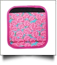 The Coral Palms� Luggage & Sewing Tote Handle Wrap - RADIANT ROSES