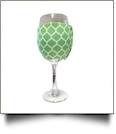 The Coral Palms® EasyStitch Zipper Wrap-Around Wine Glass Coolie - QUATREFOIL