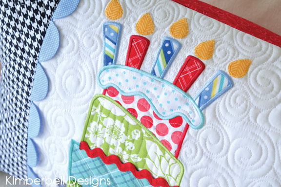 Happy Birthday Bench Pillow Embroidery Designs By