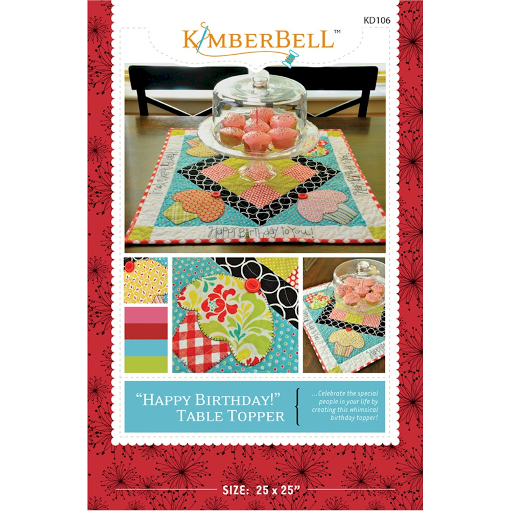 Happy Birthday Table Topper By Kimberbell Designs