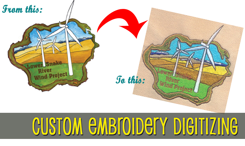Custom Digitizing To Convert Graphics To Custom Embroidery Designs