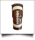 30oz Double Wall Stainless Steel Super Tumbler - FOOTBALL - CLOSEOUT