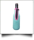 The Coral Palms® 12oz Long Neck Zipper Neoprene Bottle Coolie - CHEVRON