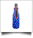 The Coral Palms™ 12oz Long Neck Zipper Neoprene Bottle Coolie - STARS