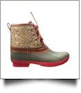 The Coral Palms™ Kids Glitter Duck Boots