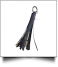 Power Tassel Keychain with Medallion and Hidden Cell Phone Chargers - BLACK