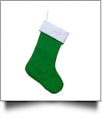 The Coral Palms™ Quilted Heirloom Christmas Stocking - GREEN/WHITE