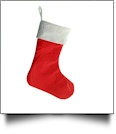 The Coral Palms™ Quilted Heirloom Christmas Stocking - RED/WHITE