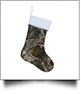 The Coral Palms™ Quilted Heirloom Christmas Stocking - CAMO/WHITE
