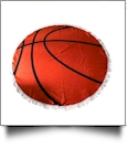 "Sports Print 60"" Round Fringed Beach Towel - BASKETBALL - CLOSEOUT"