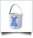 Easter Bunny Tail Bucket Tote - BLUE - CLOSEOUT