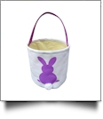 Easter Bunny Tail Bucket Tote - PURPLE - CLOSEOUT