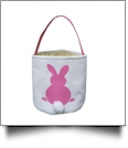 Easter Bunny Tail Bucket Tote - PINK - CLOSEOUT