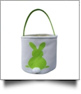 Easter Bunny Tail Bucket Tote - GREEN - CLOSEOUT