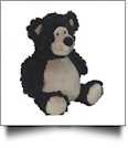 Embroidery Buddy Stuffed Animal - Bobby Buddy Bear, Black 16""