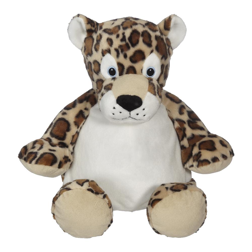 Embroidery Buddy Stuffed Animal Leroy Leopard 16