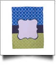 Quatrefoil Festive Outdoor Garden Banner - BLUE/LIME - CLOSEOUT