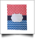 Dotty Chevron Festive Outdoor Garden Banner - PINK/BLUE - CLOSEOUT