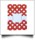 Hearts In Love Festive Outdoor Garden Banner - RED - CLOSEOUT