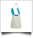 Canvas Bunny Ear Easter Tote - TURQUOISE - CLOSEOUT