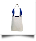 Canvas Bunny Ear Easter Tote - BLUE - CLOSEOUT