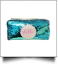 The Coral Palms® Mermaid Medallion Cosmetic Bag/Pencil Case - AQUA/BLUSH