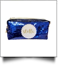 The Coral Palms® Mermaid Medallion Cosmetic Bag/Pencil Case - BLUE/GOLD