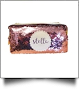 The Coral Palms™ Mermaid Medallion Cosmetic Bag/Pencil Case - BLUSH/GOLD