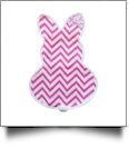 Easter Bunny with Bow Garden Banner - PINK CHEVRON