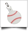 Faux Leather Baseball Key Chain with Clasp - CLOSEOUT