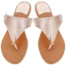 The Coral Palms� EasyStitch Celia T-Strap Sandal - ROSE GOLD - CLOSEOUT