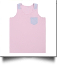Seersucker Pocket Tank Top - PINK - CLOSEOUT