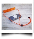 Universal Waterproof Cellphone Pouch with Lanyard - ORANGE