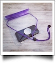 Universal Waterproof Cellphone Pouch with Lanyard - PURPLE
